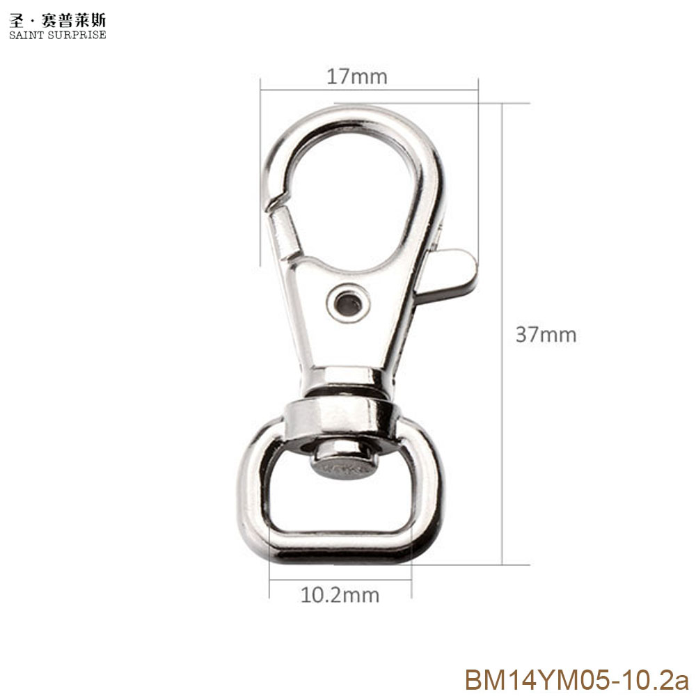 20pcs Swivel Trigger Clips Lobster Clasp Hook Keychain DIY Craft Accessory