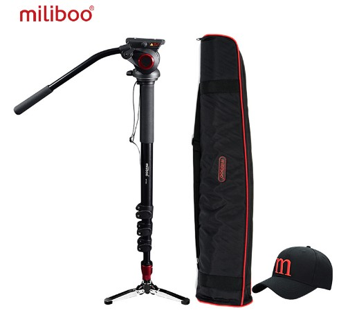 Miliboo MTT705A Aluminum Portable Fluid Head Camera Monopod For