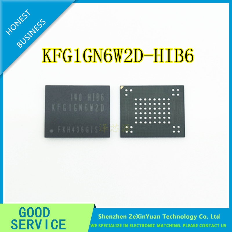 2PCS KFG1GN6W2D-HIB6  KFG1GN6W2D HIB6 BGA