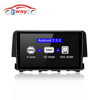 HANG XIAN Quadcore Android 7.1 2 DIN car Radio Stereo for Honda Civic 2016 Car DVD GPS Player with 1G RAM,16G ROM