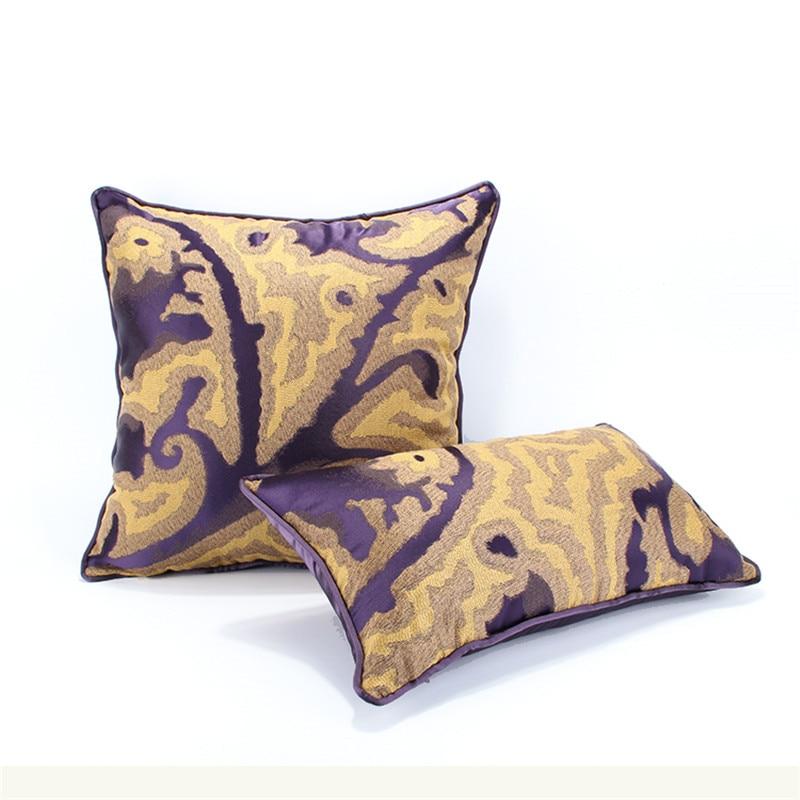 Romantische Elegante Abstrakten Sofa Kissenbezug Wohnzimmer Lila Gelb Hochzeit Dekor Autoplanen Almofadas CojinesChina