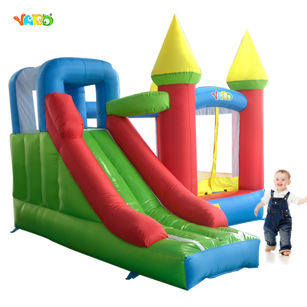 YARD Inflatable Toys Slide Bounce House Outdoor Jumping Castle Mini Trampoline Bouncer 6210 slide combo bounce house inflatable bouncer castle hot toys great gift