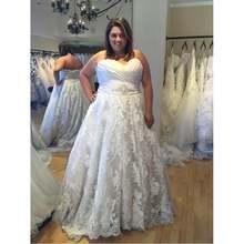 Vestidos de novia линия размера плюс свадебное платье 2021 Милая
