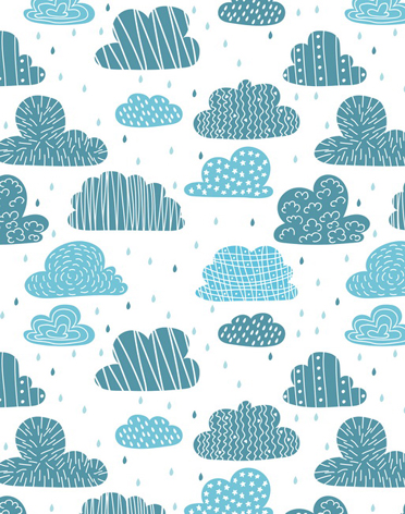 Vinyl cartoon clouds rain Photography Background Computed Printed Backdrops for newborn children Photo Studio