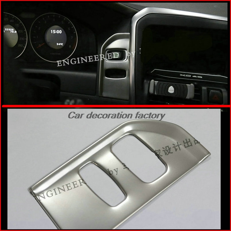 Car font b interior b font Ignition device decoration panel Key hole sequins trim Stainless steel
