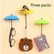 3 шт/лот креативная вешалка для ключей в форме зонтика декоративный