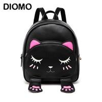 Cute Cat Small Backpacks For Girls Female Bag Backpacks For Teenagers Cartoon Women Backpack