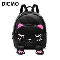 Cute Cat Small Backpacks For Girls Female Bag Backpacks For Teenagers Cartoon Women Backpack