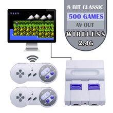 미니 레트로 게임 콘솔 무선 게임 조이스틱 TV 휴대용 게임 콘솔 630 게임 내장 AV out 비디오 콘솔