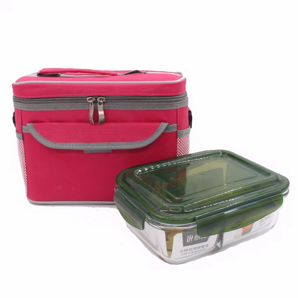 Large Glass Lunch box with Lunch Bag 1180ml 1040ml