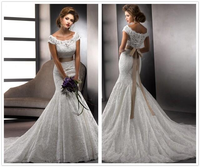Exquisite Trumpet/Mermaid Scoop Sash/Ribbon/Belt Lace Wedding ...