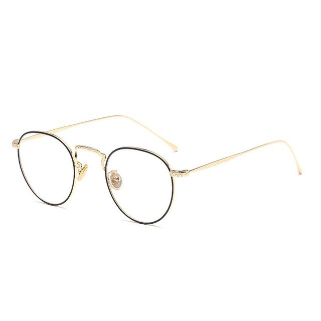 6e606ea7a561f Retro titanium liberdade Suave Marca prescrição óptica óculos de armação de óculos  vintage óculos de armação