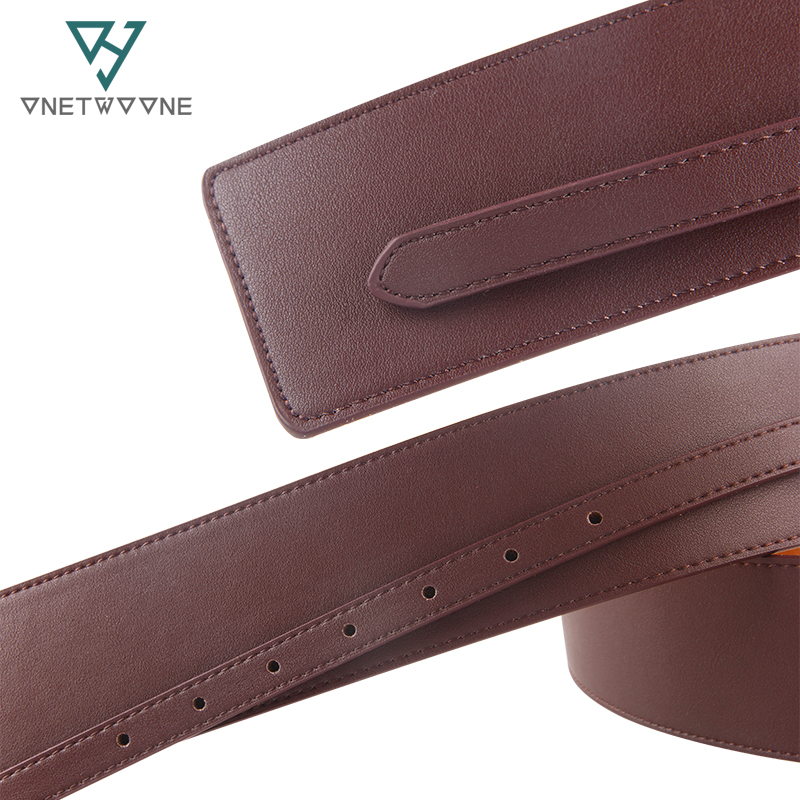 Korean Women 39 s Cummerbunds Small Belt Buckle Wide Belt Retro Wide Body Sculpting Girdle Ladies Leather Waistband Belt 1DW2 in Women 39 s Belts from Apparel Accessories