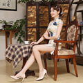 New Design Retro Slim Summer Traditional Chinese Dress Cheongsam Qi Pao for Women Evening Dress Qipao