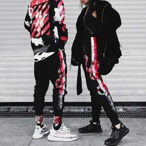 Image 1 - YEELOCA 2019 High Quality Coral Snake Print Hip Hop Trousers Harajuku Cotton Streetwear Jogger Sports Harem Pants