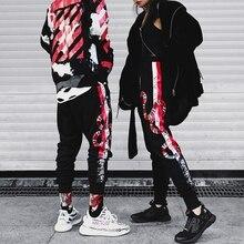 YEELOCA 2019 wysokiej jakości koralowy nadruk węża spodnie Hip hopowe bawełniane, w stylu Harajuku Streetwear Jogger sportowe spodnie Harem