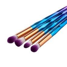 Makeup Brush Rainbow Makeup Brushes Set 10pcs Rhinestone Tools Pro Powder Foundation Eye Lip Concealer Face colrful Brush Kit