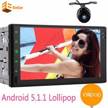 """Android 5.1.1 Car Multimedia Player Car PC Tablet Double 2din 7"""" GPS Navigation Car Stereo Radio Bluetooth GPS Navigation 2Din"""