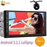 Android 5.1.1 Coche Reproductor Multimedia Car PC Tablet Doble 2din 7 ''GPS de Navegación de Radio Estéreo Del Coche de Navegación GPS Bluetooth 2Din