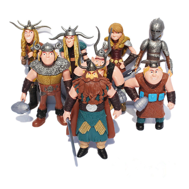 8pcs/set How To Train Your Dragon Toys Night Fury Toothless How To Train Your Dragon Anime Figures Toys for Children Boys Gift мини фигурка dragons toothless 66562 20064923