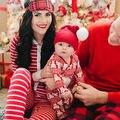 Nuevo bebé recién nacido niño niño Niña oso ciervos de Navidad Inicio Pijamas pijamas ropa de Dormir Pijamas de Algodón Pijama Conjunto Pijama de 0-24 M