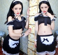 Maid Outfit Lingerie Exotic Apparel Sexy French Black White Maid Costume Lace Costume Sets