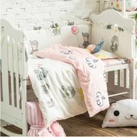 Multi Размеры 9 шт. Симпатичные Слон ребенка Постельное белье хлопок кроватки постельные принадлежности для новорожденных детская кровать вк
