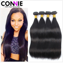Straight Brazilian Virgin Hair 4 Bundles 7A Brazilian Virgin Human Hair Straight Remy Hair Products Brazilian Hair Weave Bundles