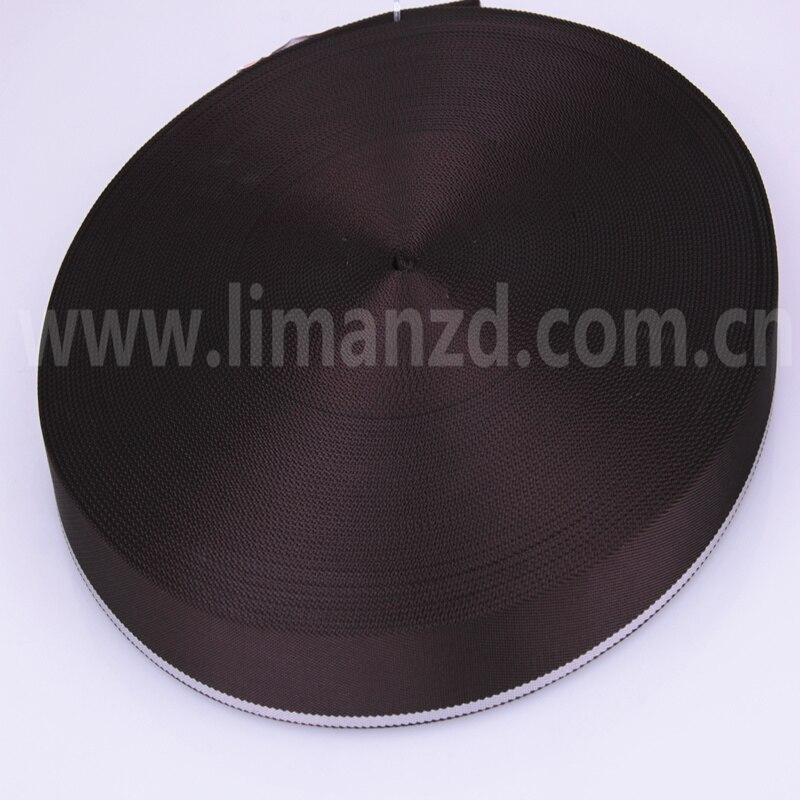 káva / šedý plochý nylonový pásek prostý nylonový pásek 1 1/4 palce