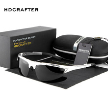 New 2016 HDCRAFTER Fashion Sports Driving Car Antiglare Uv protection Sunglasses Man Brand Designer CR39 E003