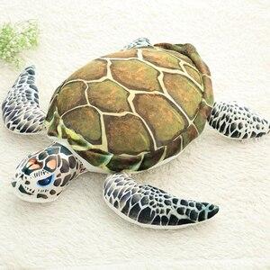 Image 5 - 3D Simulação Oceano Peixes Tropicais Abraço Travesseiro Almofada Brinquedo de Pelúcia Dos Desenhos Animados Travesseiro Tartaruga Decoração de Casa de Boneca Criança Presente de Aniversário