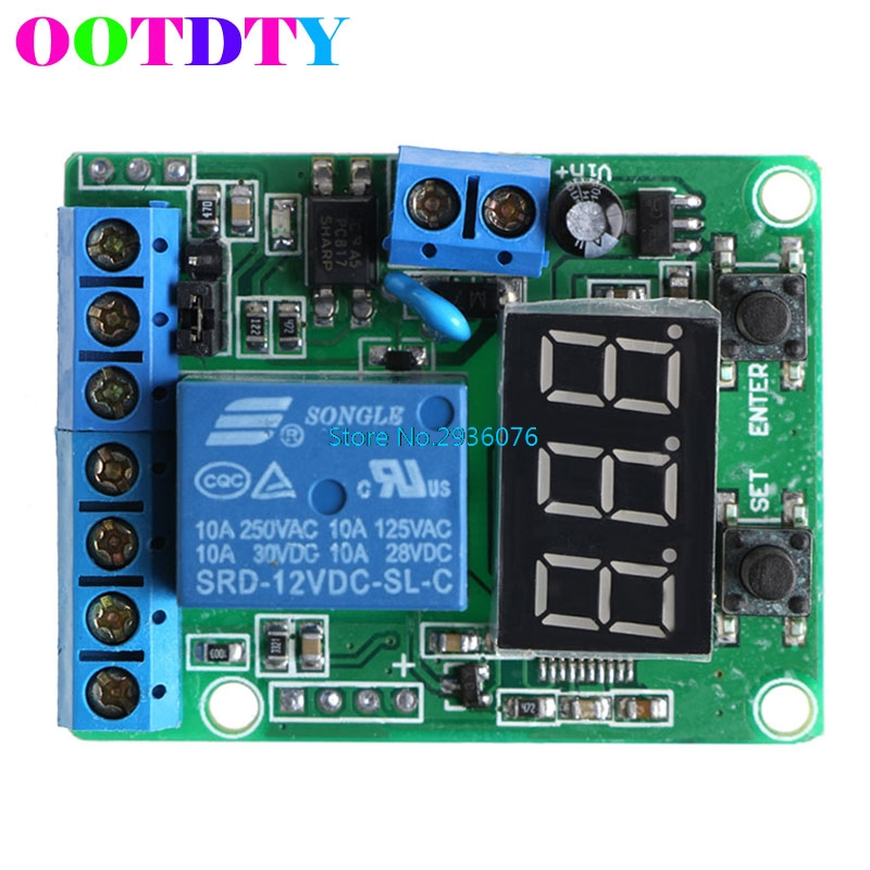 DC Relay Module Control Board 12V Switch Load Voltage Detection Test Monitor APR11_10 dc 24v photoresistor module relay light detection sensor light control switch s018y high quality