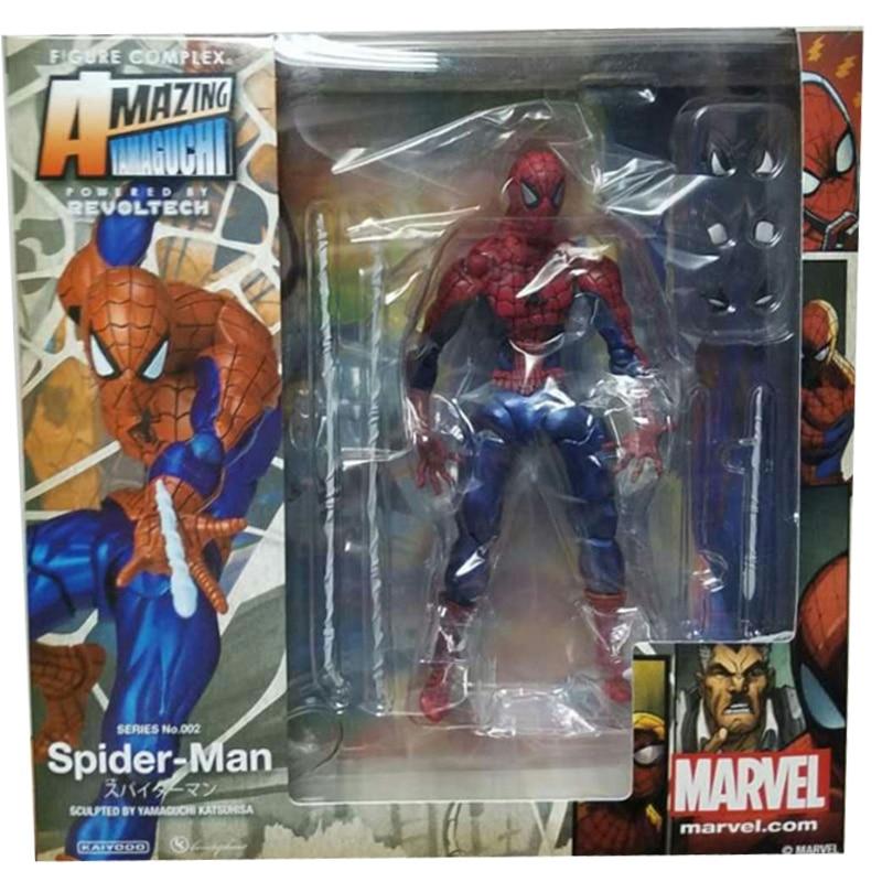 Revoltech Amazing Red Venom Carnage Amazing Captain America Spiderman Magneto Wolverine X-men Action Figures Toy Doll (30)