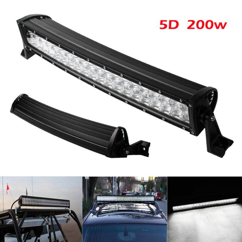 20 Inch Curved Light Bar Waterproof 200w 6000k Combo Led 5d Car Work Light 6500k Auto Offroad Driving Light 100% Original