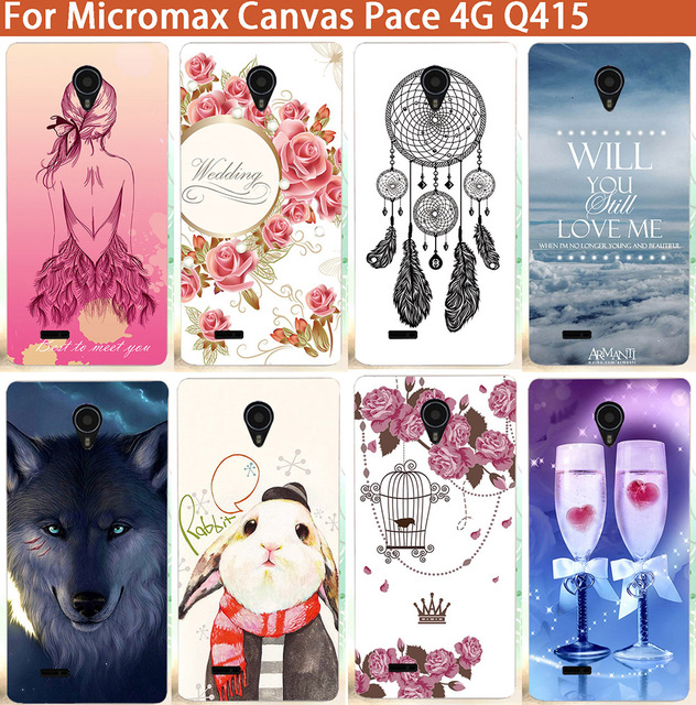 huge discount b7865 58fbc US $1.66 36% OFF|New Patterns Case back Cover DIY Colored painted Phone  Cover For Micromax Canvas Pace 4G Q415 Cover case For Micromax q415-in ...