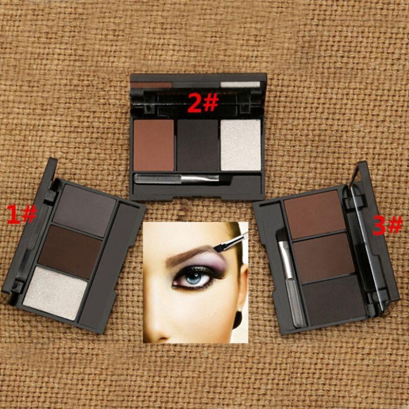 3 Colors Set Professional Makeup Eyeshadow Palette Eyebrow Makeup Palatte paleta de sombra Contour Palette Maquiagem Women 4