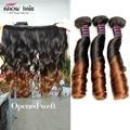 8a peruano virgem cabelo 4 pcs lot tia funmi cabelo de dois tons ombre extensões do cabelo romance onda espiral 100% virgem remy cabelo humano