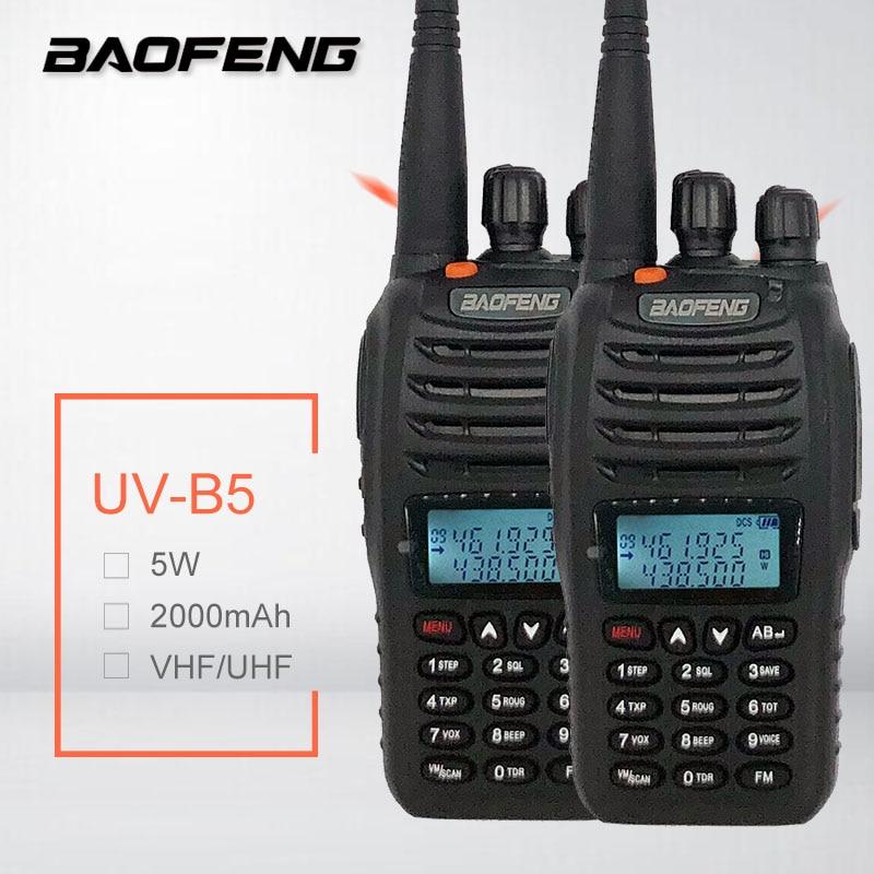 2PCS BAOFENG UV-B5 Walkie Talkie UHF VHF Portable CB Radio 99CH Mobile Transceiver Ham Radio Comunicador FM VOX+ Earpiece2PCS BAOFENG UV-B5 Walkie Talkie UHF VHF Portable CB Radio 99CH Mobile Transceiver Ham Radio Comunicador FM VOX+ Earpiece