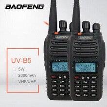 2PCS BAOFENG UV-B5 Walkie Talkie UHF VHF Portable CB Radio 99CH Mobile
