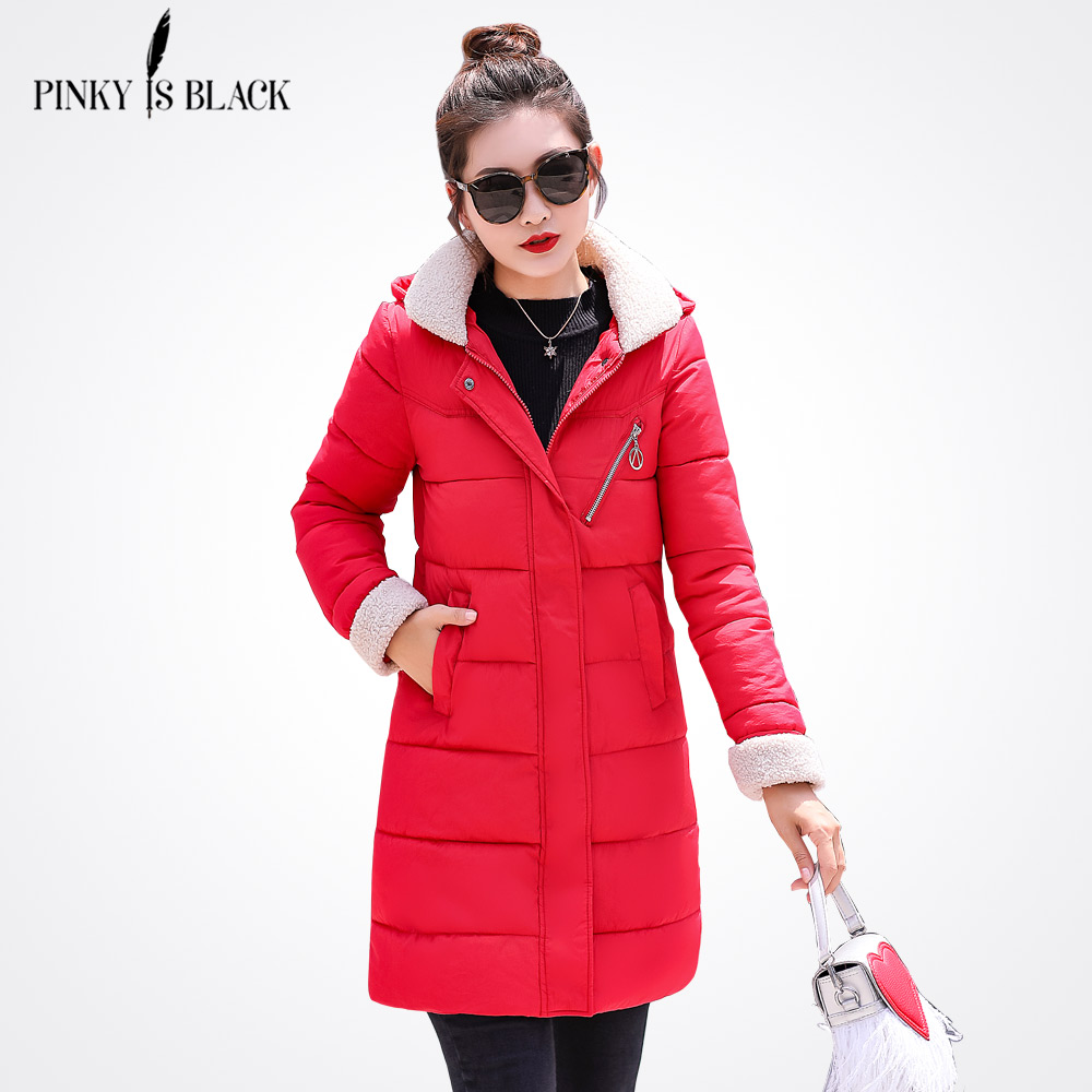 PinkyIsBlack New Winter Jacket Women Down Cotton Jackets And Coats Long Thicken   Parkas   Hooded Ladies Winter Coat Women Outwear