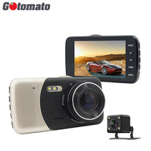 Gotomato 4.0 дюймов IPS HD Экран двойной Камера Видеорегистраторы для автомобилей Full HD 1920*1080 P 2 автомобиля объектива Камера видео регистраторы 2 LED Ночное видение