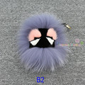 Fluffy Genuine Real Fur Pom Pom Keychain Monster Fur Keyring Key Chain Women Bag Charm Bag Accessories