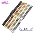 10 mm 12 mm 14 mm 16 mm nuevos hombres Ladies Gold Silver Stainless Steel Watch Band correa extremo recto pulsera