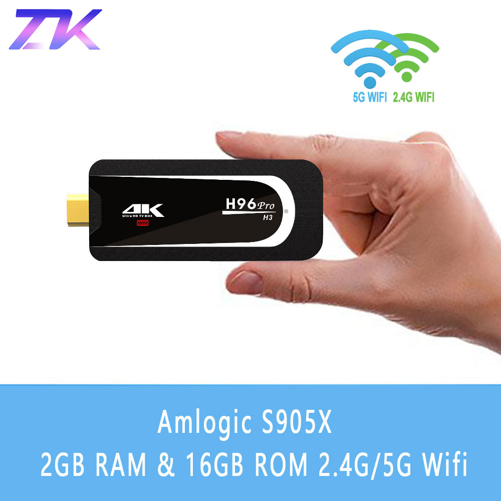 H96 Pro H3 Mini PC Amlogic S905X Quad Core Android 7.1 TV Dongle Miracast 2G RAM 16G 2.4G/5G WiFi BT 4.0 4 K HD TV Stick H96Pro
