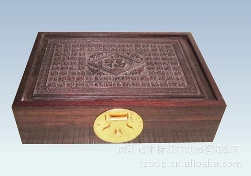 Dongguan high grade mahogany wood jewelry box custom made wooden