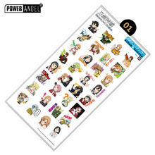 2pcs Anime Sword Art Online Stickers Phone Laptop Book Plastic Transparent Decal Toy Sticker