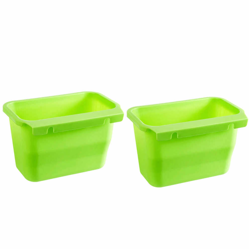 Conveniente Grande Qualidade Criativa Caixa De Lixo Da Cozinha Portas de Armário Pendurado Armazenamento De Lixo Pode Descascar Box2pc Transporte da gota