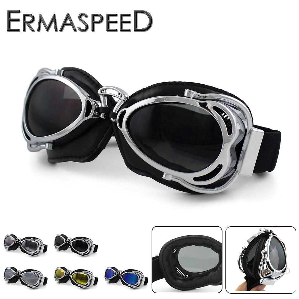 Motorcycle Goggles Retro Vintage Helmet Jet Ski Steampunk Goggles Moto Cross Pilot Glasses For Harley Chopper Cafe Racer