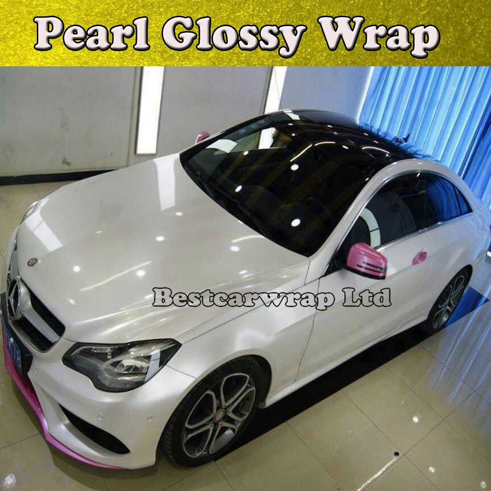 Protwraps Glossy Pearl White Vinyl Wrap With Air Bubble Free Gloss