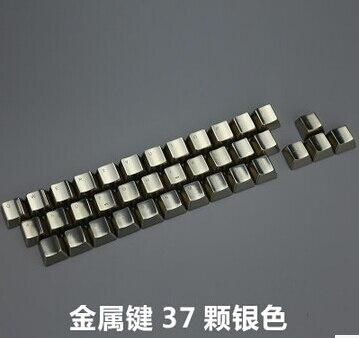 Mechanical Keys Metal Keycap Modifier Cherry Mx Switches Keycaps DOTA2 CS GO Gaming  Metallic Silver OEM
